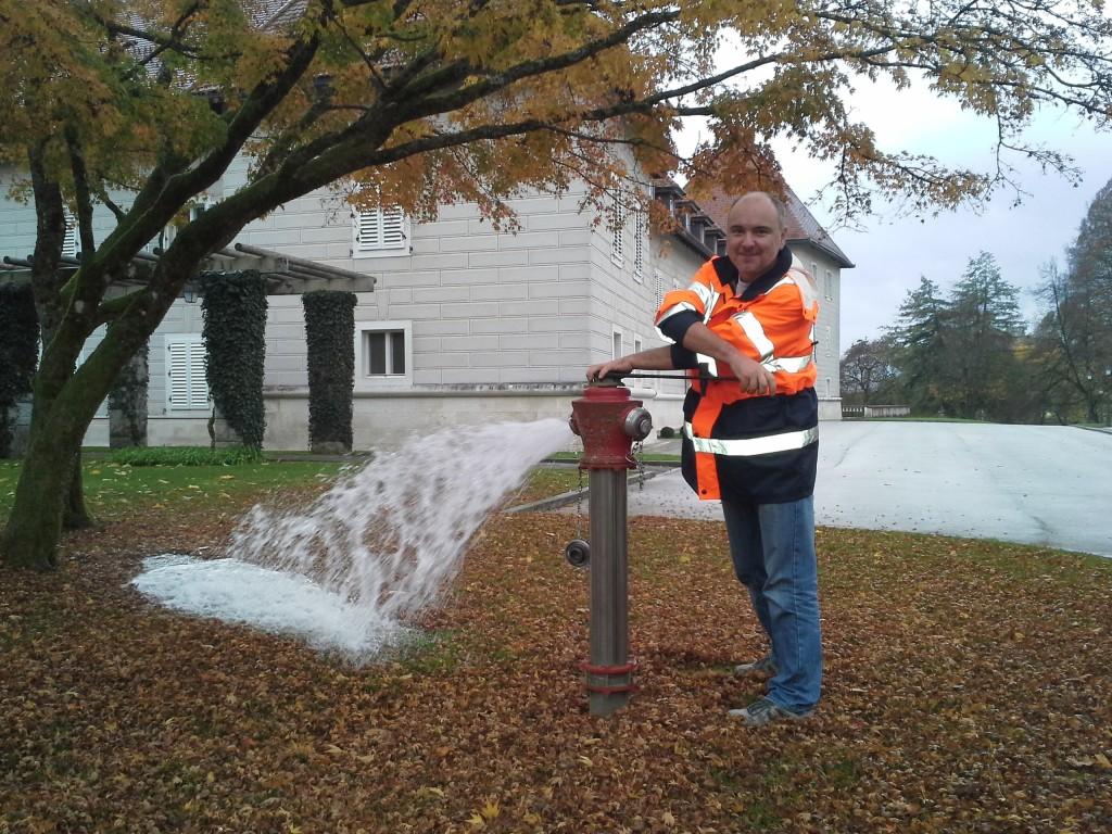 Pregled hidrantov na Brdu